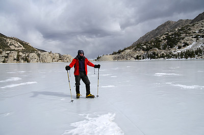 Me on the frozen-over Second Big Pine Lake in the middle of January.