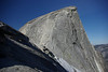 Near the saddle and the base of the Cable section on the NE face of Half Dome, May 2008