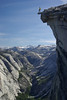 My brother Mark on the Diving Board on the West Face of Half Dome, 5/2008