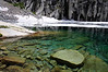 The Crystal-Clear Water of Precipice lake.