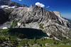 One of many nice views of the Big Hamilton Lake as you climb towards the Gap along the High Sierra Trail.