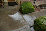 Accumulation of Hail from the Roof to the walkway near the front door